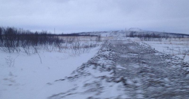 В Магадане и в Ольском городском округе - снег, ветер, метель