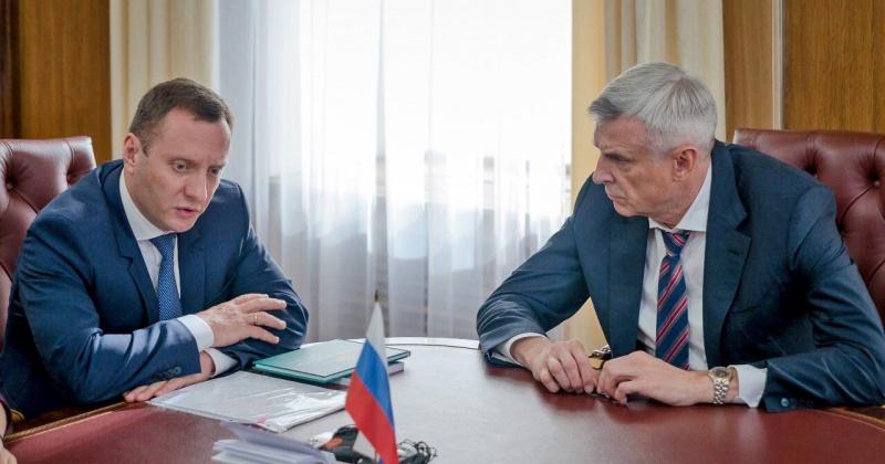Сергей Носов провел рабочую встречу с заместителем главы Федеральной антимонопольной службы Сергеем Пузыревским