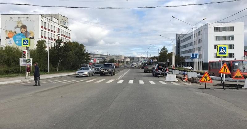В Магадане завершаются работы по нацпроекту «Безопасные и качественные автомобильные дороги»
