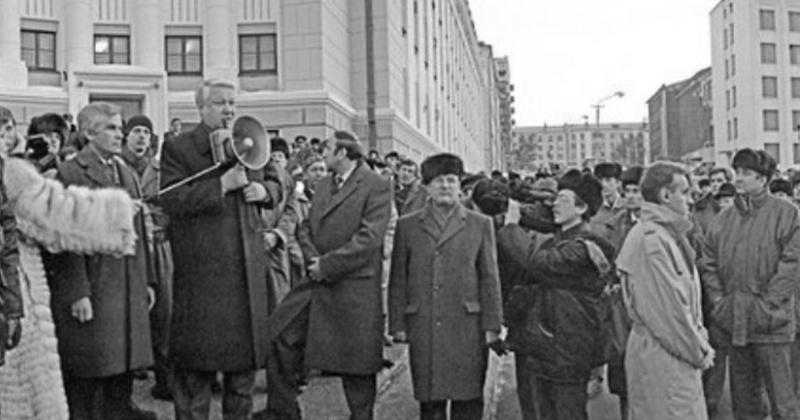 Борис Ельцин в Магадане
