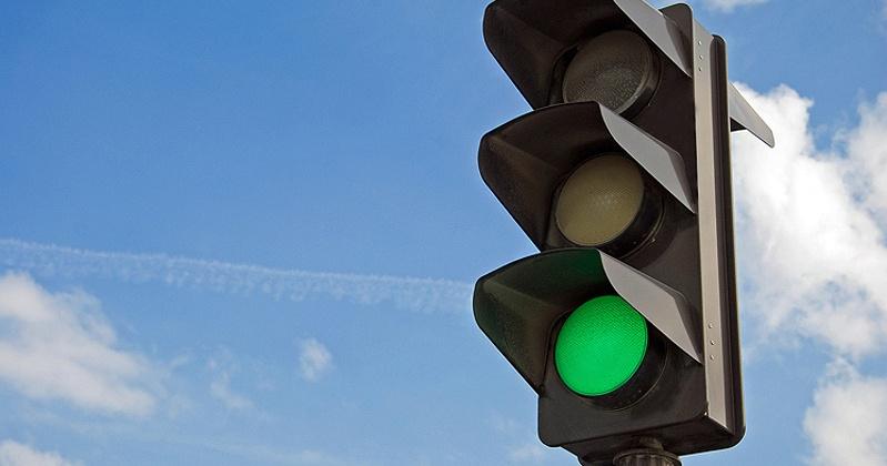 Светофор не будет работать в Магадане на перекрестке улиц Гагарина и Якутской