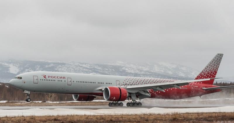 """АК """"Россия"""" сокращает количество рейсов в неделю до четырёх из Магадана в Москву"""