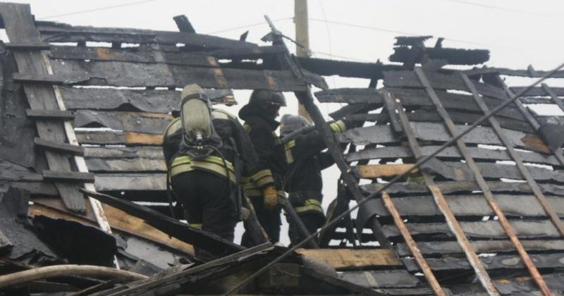Частная баня полностью сгорела в селе Балаганное