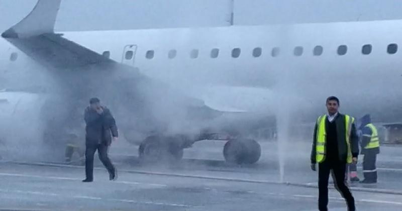 Появилось видео горящего самолета рейса Хабаровск Магадан