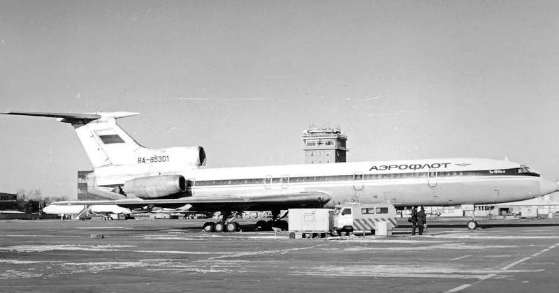 """2 января 1981 года аэропорт """"Сокол"""" в Магадане впервые принял Ту-154"""