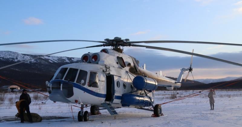 Новый вертолет Ми-8АМТ прибыл в Магадан