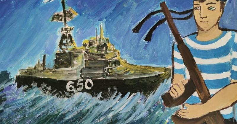 В Магаданэнерго поступили первые работы на конкурс детских рисунков «Этот День Победы»