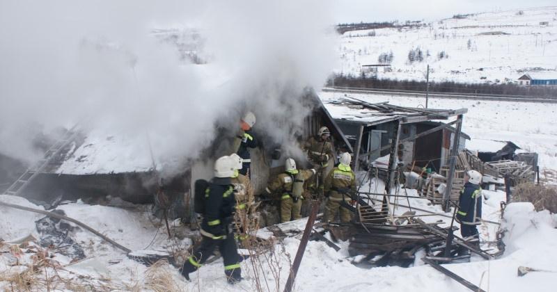 Дача сгорела в Магадане  в СОТ «Энергетик»