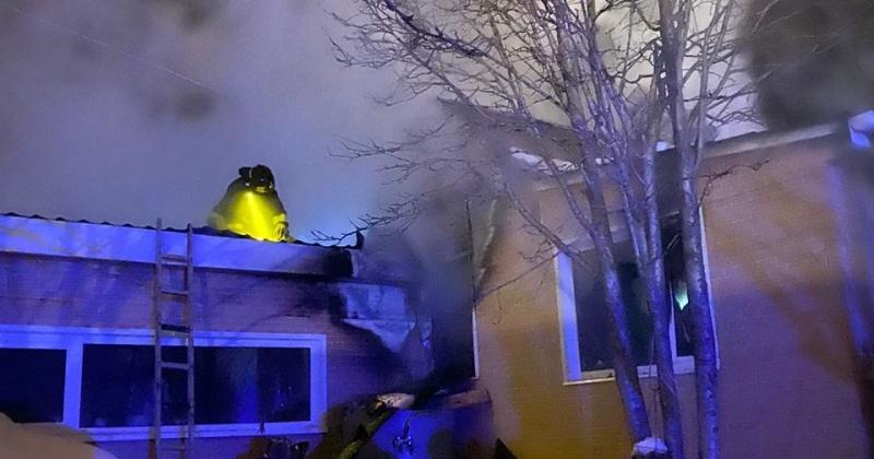 Частный дом горел в Магадане