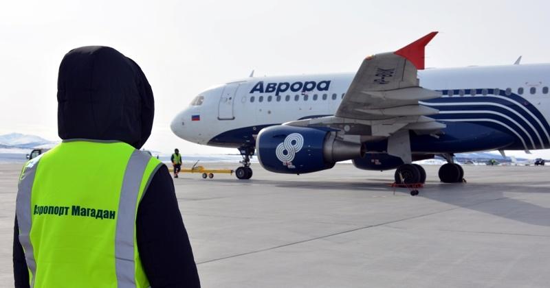 В местах массового скопления людей в аэропорту Магадан  введен особый дезинфекционный режим
