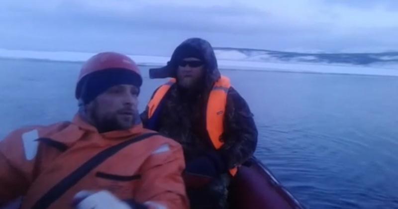 Спасатели Магадана эвакуировали двух рыбаков и подростка с оторвавшейся льдины