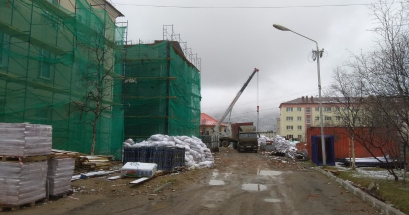 В областном онкологическом диспансере в Магадане продолжается капитальный ремонт