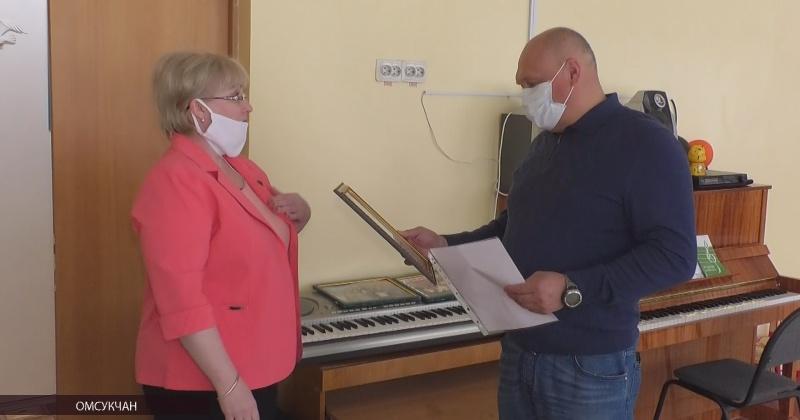 Игорь Донцов поздравил с Днем защиты детей воспитанников детского сада п.Омсукчан