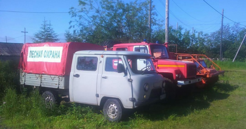 45 единиц техники  лесопожарной и лесохозяйственной техники поступили на Колыму