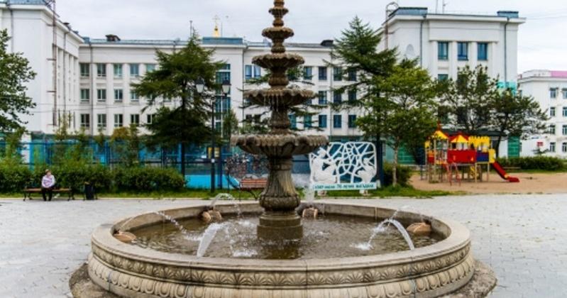 Восемь фонтанов запустили в Магадане