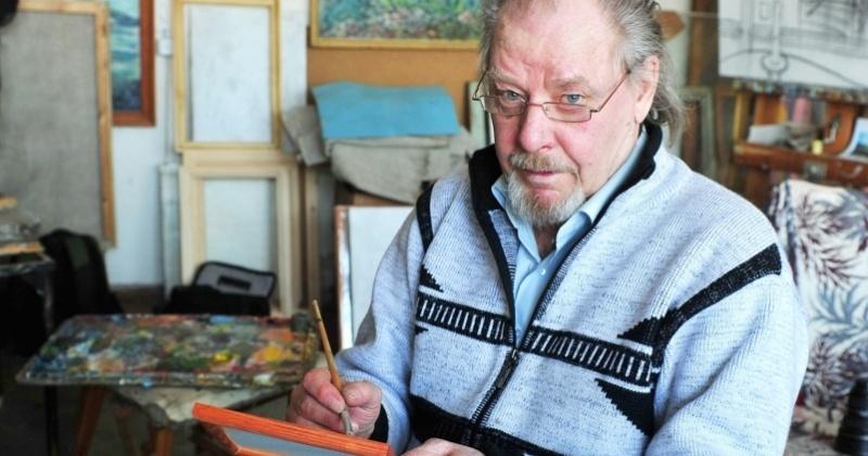 Сергей Абрамов поздравил с юбилеем колымского художника Валерия Праскова