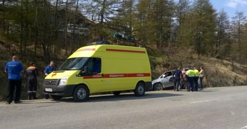 В результате ДТП на 9 километре трассы Ола-Гадля два человека пострадали