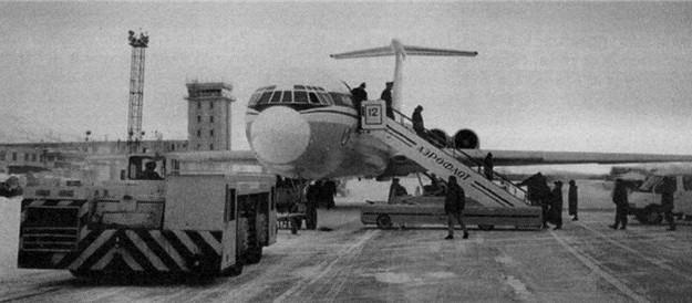 35 лет назад совершен первый беспосадочный рейс самолета Ил-62М по маршруту Москва-Магадан