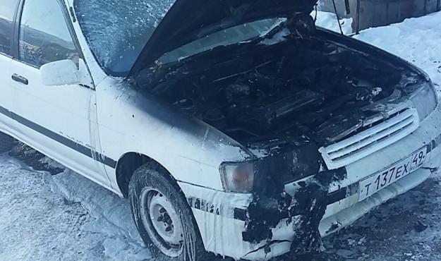 Магаданские пожарные ликвидировали возгорание автомобиля