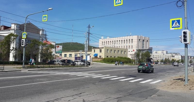 В городе Магадане, на ул. 2-км основной трассы скоро заработает новый светофор