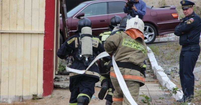 Пожарные Магаданской области состязались в профессиональном мастерстве