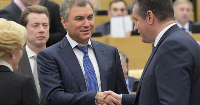 Сергей Абрамов поздравил Вячеслава Володина с избранием на пост председателя Государственной Думы VII созыва