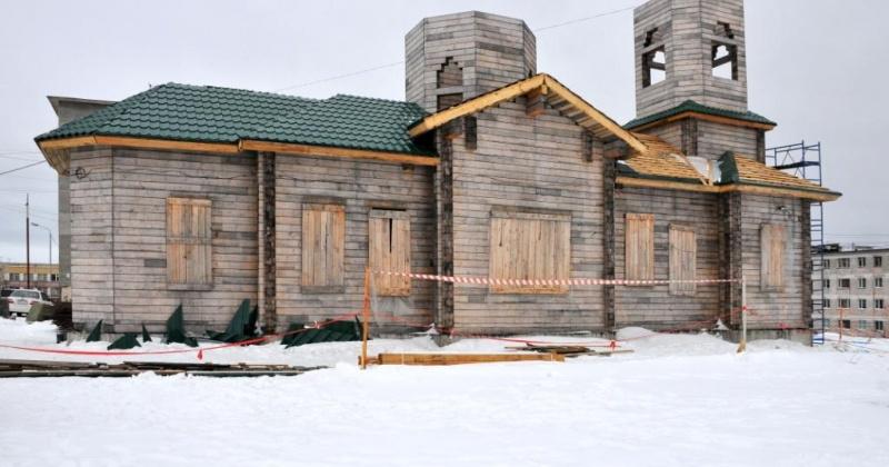 В Магадане продолжается возведение храма Преподобного Сергия Радонежского, строящегося на улице Колымской