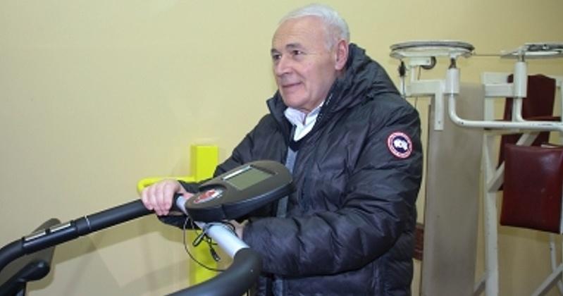 Новые тренажеры установлены в спортивном зале школы села Талон