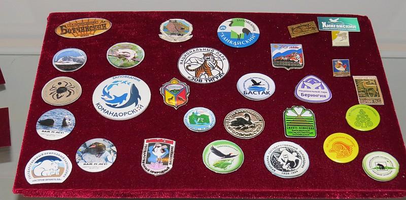 Значки с символикой заповедника «Магаданский» представлены на выставке в Белгородской универсальной научной библиотеке