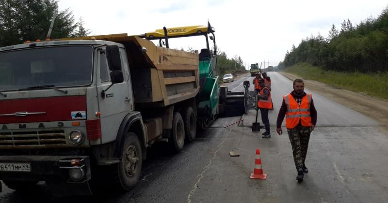 Реконструкцию участка колымской трассы у Палатки завершат до 29 сентября