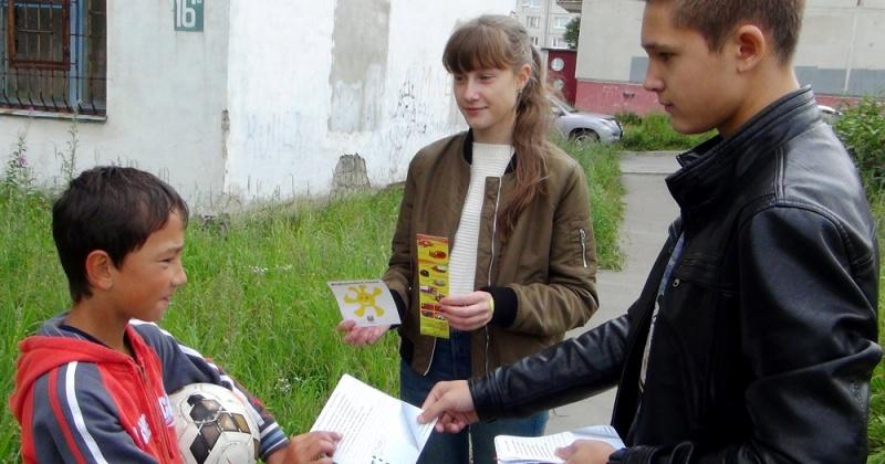 В городе Магадане проведена пропагандистская акция «Стань заметней на дороге!»