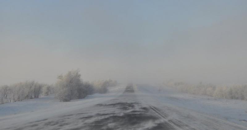 Ветер,  сильный снег, метель ожидается на всей территории Магаданской области