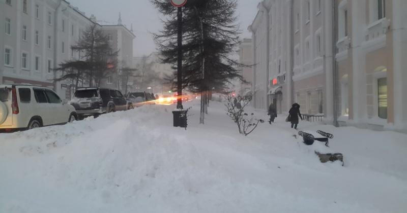 Сильный снег, ветер, метель ожидается завтра в Магадане и районах Колымы
