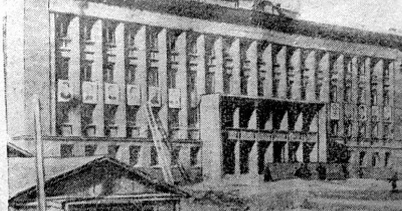 79 лет назад на месте строительства здание Главного управления Дальстроя в Магадане были окончены изыскательские работы