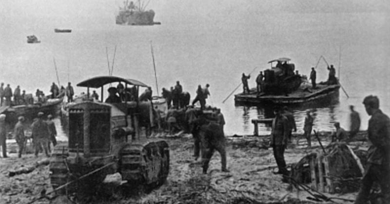 86 лет назад первая тракторная колонна с грузами вышла по примитивной тракторной дороге из Нагаева до Эликчана