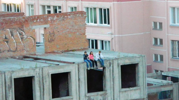 Дети на крыше