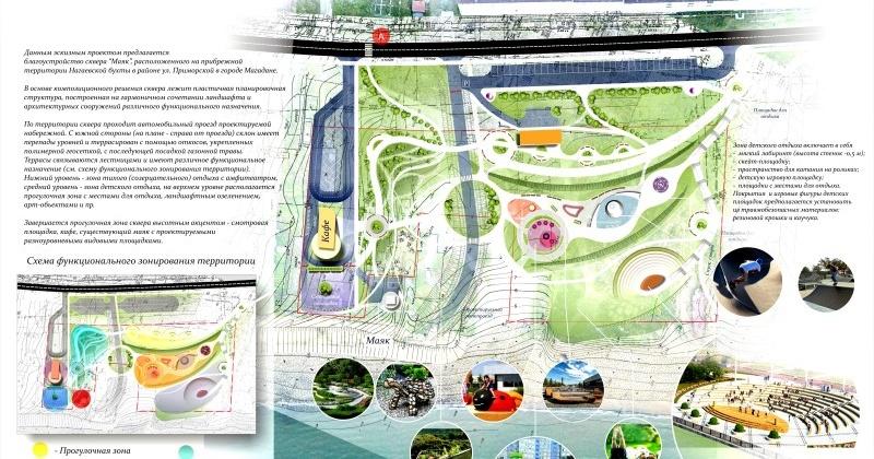 Проект парка «Маяк» представят в Москве мэр Магадана Юрий Гришан и архитектор Людмила Терещенко