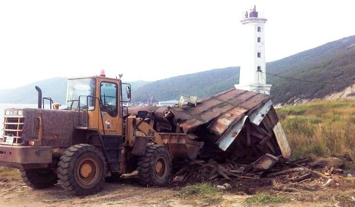 На прошлой неделе в Магадане снесли одиннадцать строений
