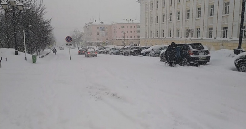 Ветер, сильный снег, метель, сохраняется в Магадане, в Ольском и Хасынском городских округах