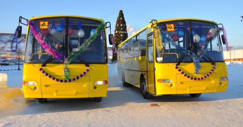 Новый школьный автобус на 34 места начнет возить школьников со Снежной Долины в Магадан