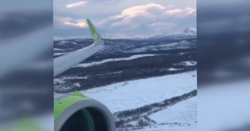 Пассажиры рейса Новосибирск-Магадан сняли видео неудачной попытки захода на посадку (Видео)