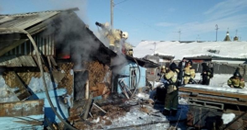 Магаданские пожарные ликвидировали загорание частного дома по улице Потапова