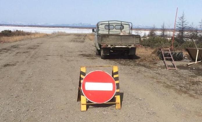 В Магаданской области закрыта ледовая переправа через реку Яна