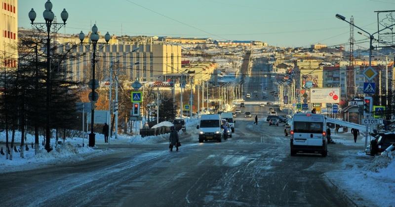 Улицы Гагарина и Якутская перекрыты сегодня в Магадане в связи с работой дорожной техники
