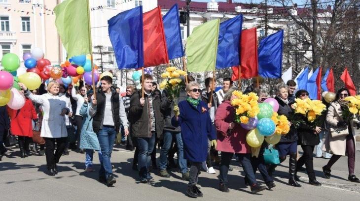Магадан отмечает Первомай (Видео)