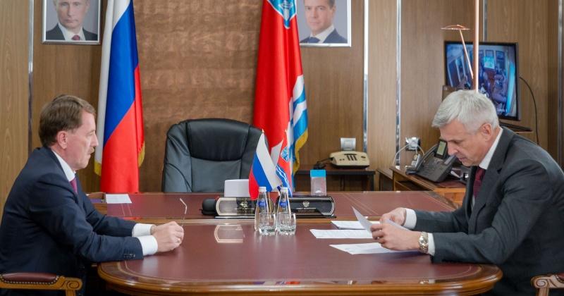 Вице-премьер РФ Алексей Гордеев и губернатор Сергей Носов провели рабочую встречу