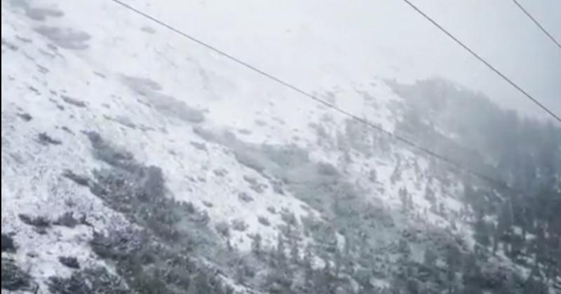 В Магаданской области выпал снег