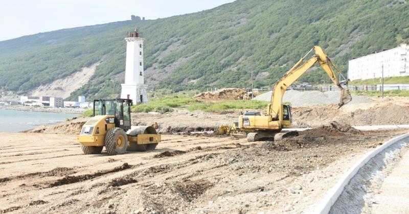 Основное строительство парка «Маяк» в Магадане планируется завершить к ноябрю 2019 года
